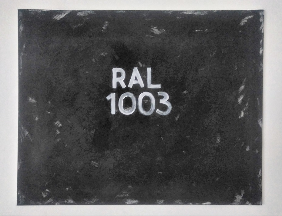 On the pawning of Color - Ral 1003, 2018