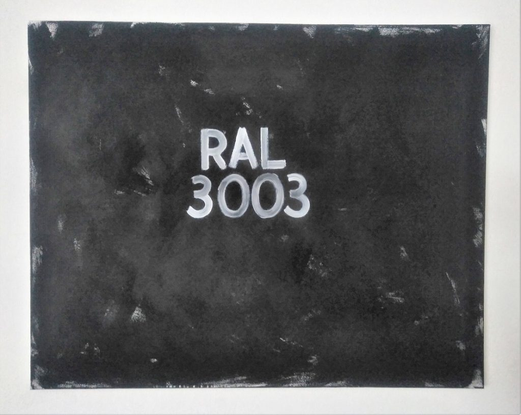 On the pawning of Color - Ral 3003, 2018